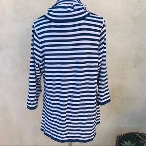 Bloomingdale's Tops - Bloomingdale's Striped Cowl Knit Tunic Top EUC